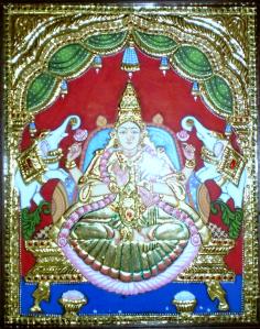 Gajalakshmi_in_Tanjore_Painting_