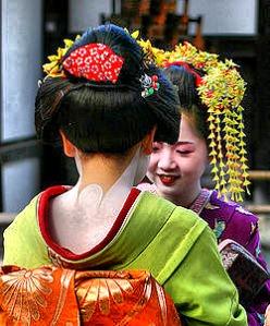 Geishas preparing tea