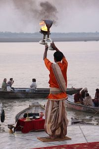 Arathi on the Ganges river - the Ghats,Varanasi