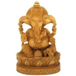 Ganesh wood carving. Japan. Early Buddhist brought Ganesh to Japan.