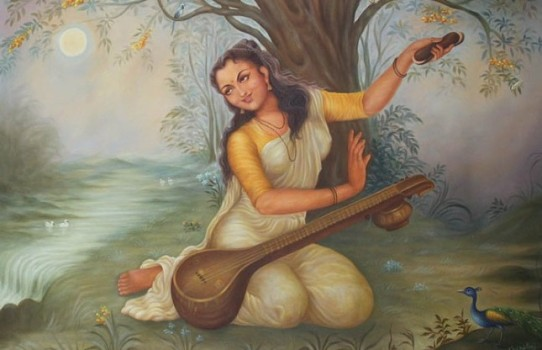 Painting of Mirabai by GR Sharma