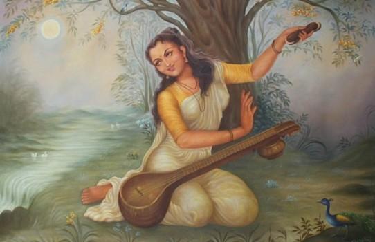 Painting of Mirabai by GR Sharma