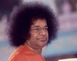 Sai Baba - how he looked when I first visited Puttparthi,.