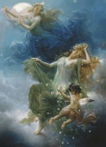 """Night Fairies: by: Hans Zatzka"