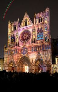 Light Festival de Lyon, France - Cathedral de Lyon